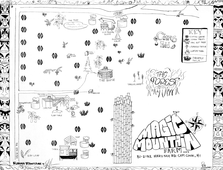 A Map of Magic Mountain Farm | Little house on the Big Island